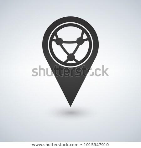 Térkép földgömb internet ikon vektor terv Stock fotó © kyryloff