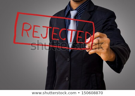 business woman rejected stamp stock photo © 3dmask