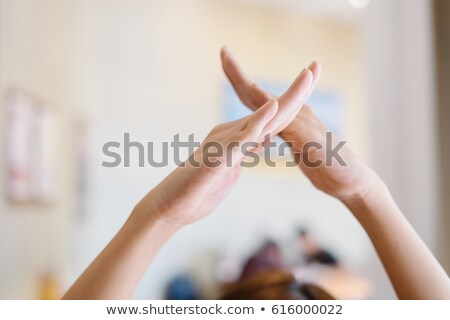 hand demonstrating x in the alphabet of signs stock photo © vladacanon