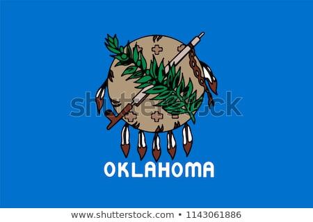 Zászló Oklahoma száraz Föld föld textúra Stock fotó © grafvision