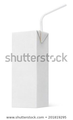 blanche · paquet · jus · isolé · papier · boîte - photo stock © netkov1