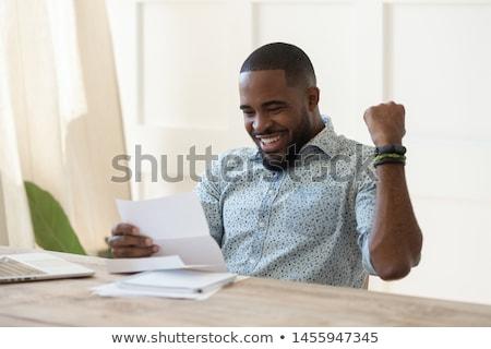 Inicio de trabajo personas feliz triunfo premio Foto stock © robuart