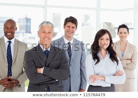 Kantoor personeel leider silhouetten groot Stockfoto © ConceptCafe