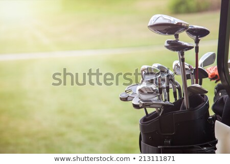 Golf çanta golf sahası yeşil ot golf arka plan Stok fotoğraf © Maridav
