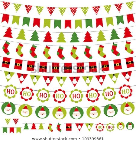Guirnalda patrones Navidad fiesta colección Foto stock © marish