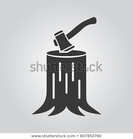 Wooden Cutting lumberjack Instrument Ax Vector Stock photo © pikepicture
