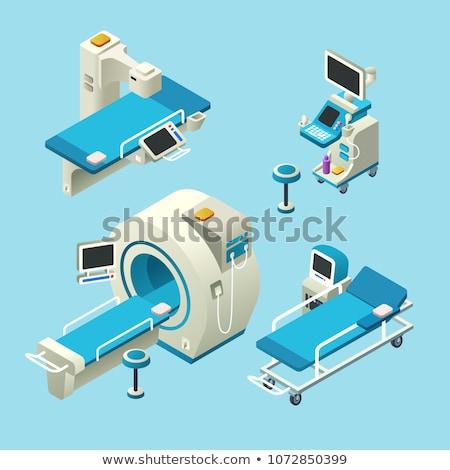 マグネチック · アジア · 若い男 · スキャン · テスト · 病院 - ストックフォト © m_pavlov