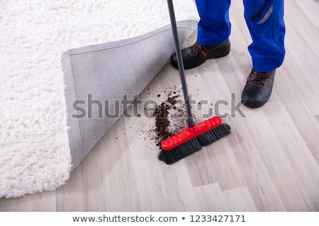 Stock fotó: Gondnok · kosz · szőnyeg · alacsony · részleg · kilátás