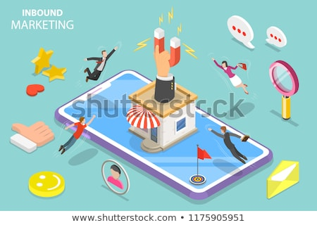 Customer Attraction, Brand Influencer Marketing Concept Stock photo © olivier_le_moal