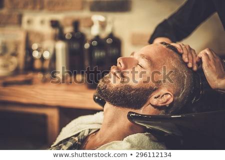 волос мыть клиент парикмахера магазин борода Сток-фото © robuart