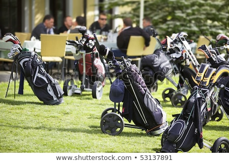 golf bags parking stock photo © lichtmeister
