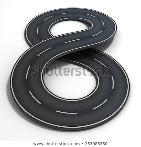 Acht zwarte weg snelweg ontwerp Stockfoto © SArts