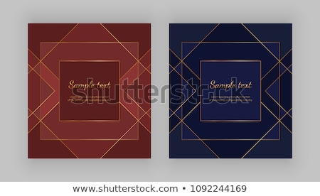 luxury red background with golden contour lines Stock photo © SArts