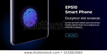 Vector 3d Realistic Cell Phone With Fingerprint Id Icon Foto stock © Tashatuvango