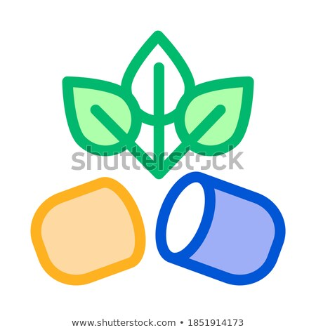 Biocapsule Supplements Icon Vector Illustration stock photo © pikepicture