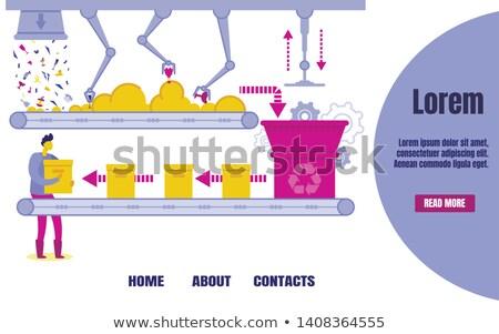 Műanyag üveg hulladék szalag vektor újrahasznosítás Stock fotó © robuart