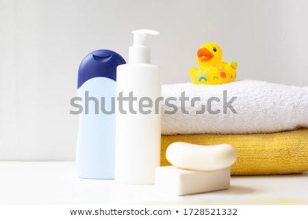 Borracha pato brinquedo loção garrafa higiene Foto stock © robuart