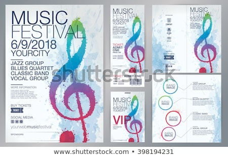 music festival poster design with clef notes Stock photo © SArts