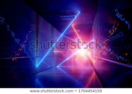 perspective neon red lights pathway background design Stock photo © SArts