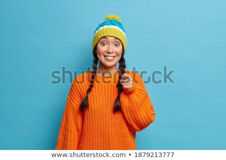 Tiro bastante oscuro mujer caliente Foto stock © vkstudio