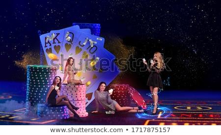 Főnyeremény pénz köteg dollár kaszinó klub Stock fotó © robuart