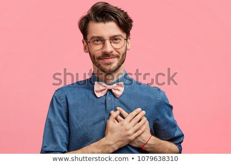 Izolált lövés kellemes néz férfi kezek Stock fotó © vkstudio
