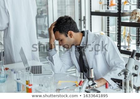 Agotado investigación científicos sentimiento cansado Foto stock © grafvision
