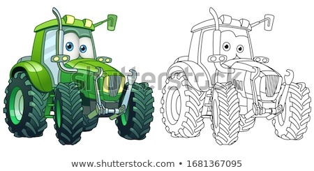 Industrielle machines tracteur transport ensemble Photo stock © robuart