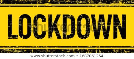 coronavirus covid-19 lockdown yellow tape background design Stock photo © SArts