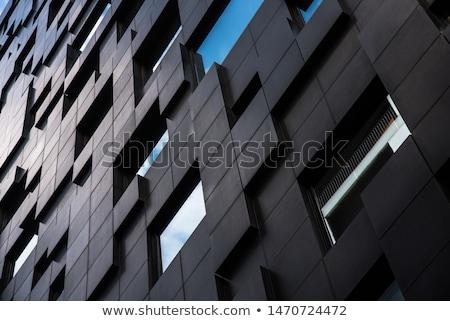 抽象的な オスロ スカイライン 青 建物 空 ストックフォト © ShustrikS
