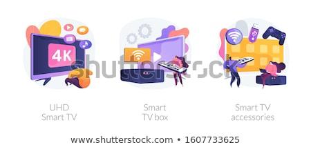 Otthoni mozi kikapcsolódás internet szabadidő online film Stock fotó © barsrsind