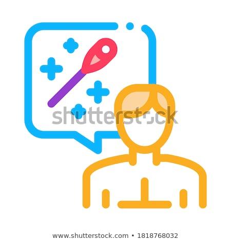 Man denken acupunctuur icon vector schets Stockfoto © pikepicture