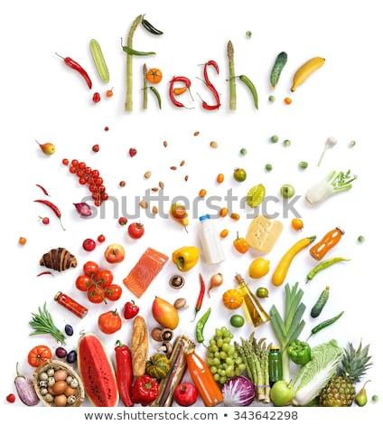 Vegan sağlık gıda seçim bitki Stok fotoğraf © marilyna