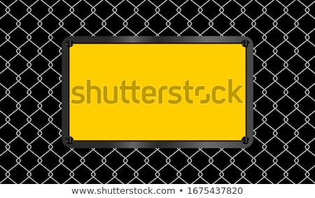 warning and wire banner stock photo © darkves