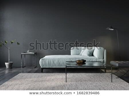 czerwony · kanapie · zielone · ściany · wnętrza · scena - zdjęcia stock © vlaru