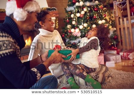 Noel · sabah · hediyeler · anne · video · açılış - stok fotoğraf © JamiRae