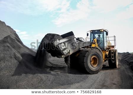 Excavator and coal piles Stock photo © deyangeorgiev