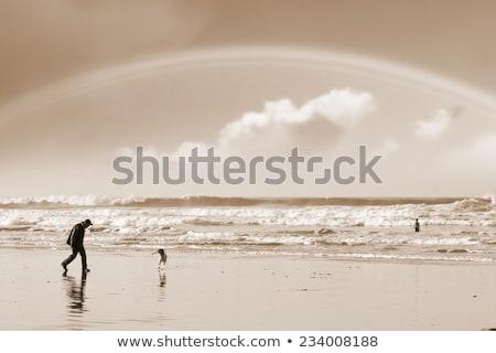 ballybunion beach summer shower rainbow Stock photo © morrbyte