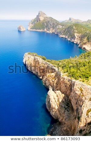 Formentor cape to Pollensa aerial sea view in Mallorca Stock photo © lunamarina