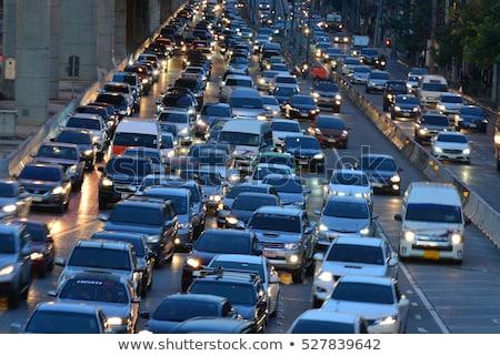Бангкок пробках длительной экспозиции квадратный Таиланд дороги Сток-фото © smithore