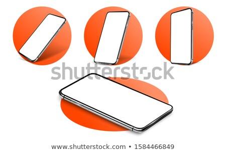 Ardiente teléfono ilustración resumen teléfono arte Foto stock © -Baks-