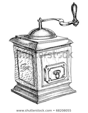 kahve · öğütücü · bağbozumu · tablo · üst - stok fotoğraf © stokkete