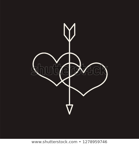 Stock photo: Two hearts with arrow 2