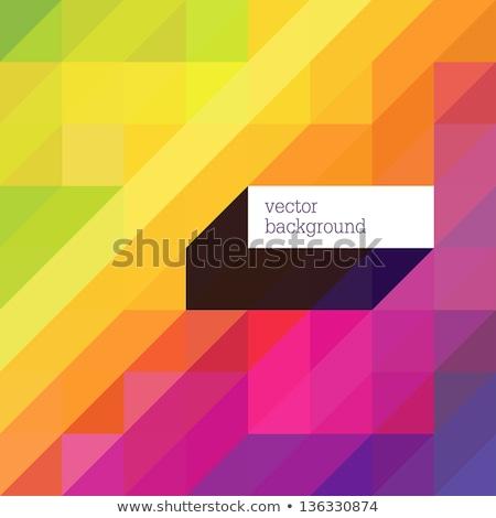 Fondo de mosaico diagonal de píxeles de colores verdes Foto stock © pashabo