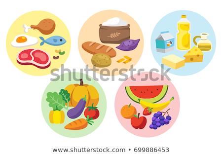 продовольствие группы пластина новых Сток-фото © digitalstorm