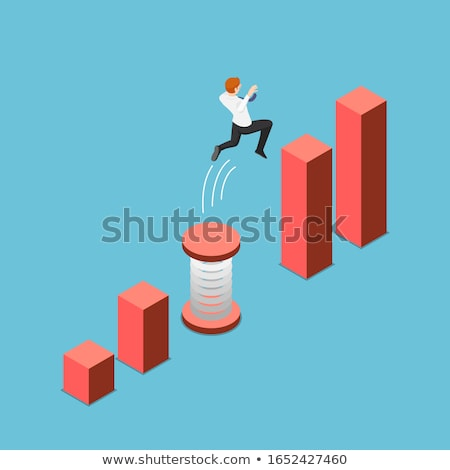 3d man jump Stock photo © nasirkhan