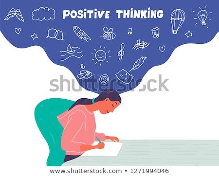 düşünmek · büyük · rüya · tahta · slogan · büyüyen - stok fotoğraf © bbbar