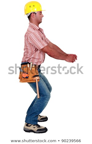 Manual worker pretending to twist object Stock photo © photography33