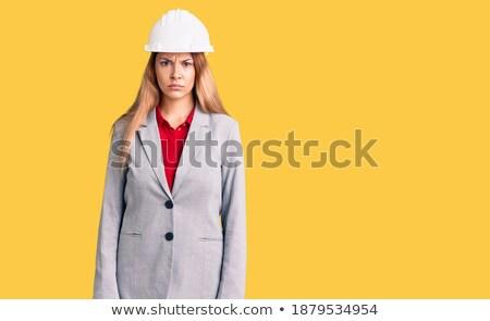 Ranzinza jovem arquiteto trabalhar empresário trabalhador Foto stock © photography33