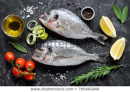 Ruw zee voedsel diner citroen kok Stockfoto © M-studio